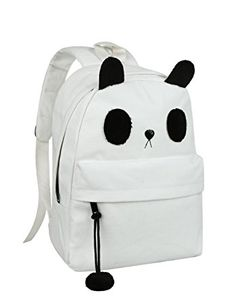 dca9675820f9 Cute Canvas Casual Style Panda Backpack  Shoulder  Book Bag
