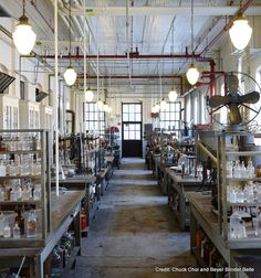 """Saved: Thomas Edison's Invention Factory (no, this is the real deal!) in West Orange, NJ. Once one of the Nat'l Trust's 11 """"Most Endangered Historic Places"""", it's now a fantastic-looking museum! Beautiful photos, too."""