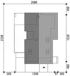 Projekt domu Arystoteles 144,5 m2 - koszt budowy - EXTRADOM Facade House, Scandinavian Modern, My House, Locker Storage, House Plans, Floor Plans, How To Plan, Furniture, Home Decor