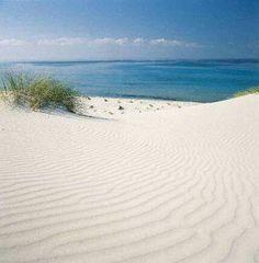 Chia una delle più belle spiagge del mondo. la sabbia cambia colore col sole: oro bianco acceccante rosa... pinete e saline alle spalle, mare trasparente/verde/turchese. un sogno
