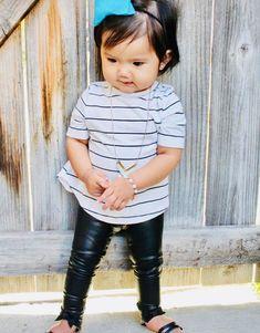 5825284f8 Black Faux Leather leggings vegan Baby Toddler Kids Girls Boys unisex  stretch pants Size 0 3 6 9 12 18 24 months 2T 3T 4T 5T 6 7