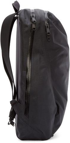 Arc'teryx Veilance Black Coated Nomin Backpack Ebags BackPack Tumblr | leather backpack tumblr | cute backpacks tumblr http://ebagsbackpack.tumblr.com/