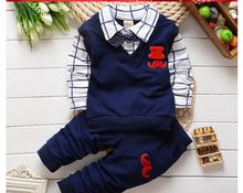 2015 spring autumn Baby boys christmas outfits clothing sets products kids clothes set babi boys false 2 pcs t-shirts+pants(China (Mainland))