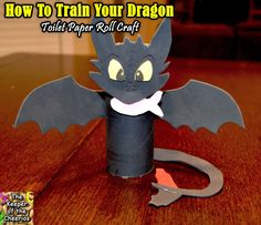 How To Train your Dragon Toothless Toilet Paper Roll Craft   The Keeper of the Cheerios