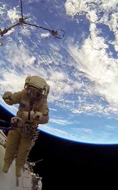 Space - Community - Looking down on #Earth from #ISS! A thing of Beauty!