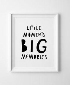 Little moments big memories Mini Learners wall art