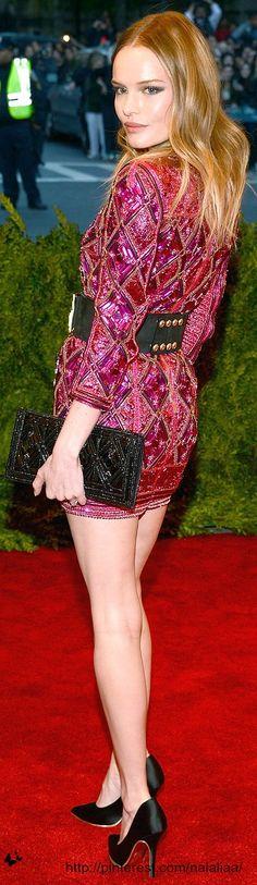 Met GALA 2013:   Kate Bosworth  The dress: Balmain