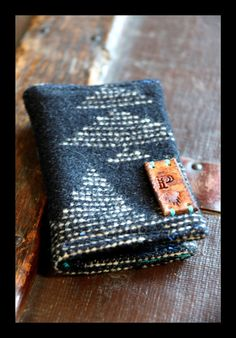 Ecote Pendleton Wool Wallet by paintedponyarts on Etsy