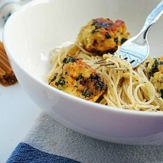 Tofu Kale Balls & Pasta- made these last night and they were bomb! Used a simple pesto for the pasta.