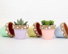 Modern personalized eco-friendly plant pots & by ChickadeePots Thank You Teacher Gifts, Teacher Christmas Gifts, Teacher Appreciation Gifts, Valentine Gifts, Plant Pots, Succulent Pots, Planting Succulents, Potted Plants, Garden Gifts