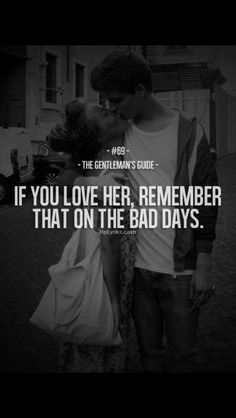If you love her..