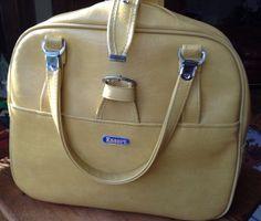 Vintage American Tourister Luggage Mustard by MapleRiverJUNKtion, $12.00