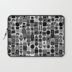 frisson memphis bw inverted Laptop Sleeve by Sharon Turner | Society6