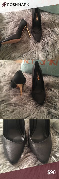 Bcbgmaxazria heels size 8 Worn only once. In great condition. Comes with the box. BCBGMaxAzria Shoes Heels