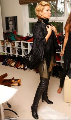 sylvie van der vaart studded heels hairstyles