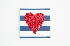Make a Valentine gift canvas with PlastiKote spray paint - Fast Dry Enamel. Spray paint ideas brings you spray paint tips, how to, competitions & pictures Spray Paint Tips, Spray Paint Projects, Spray Painting, Valentines Day Hearts, Valentine Gifts, Heart Canvas, Hobbies And Crafts, Metallic, Buttons