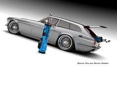 Volvo ZES Study is a Retrolicious Sports Estate - Good Looking Cars - Motorrad Volvo Wagon, Volvo C30, New Sports Cars, Sport Cars, Good Looking Cars, Auto Retro, Exotic Cars, Jaguar E Type, Custom Cars