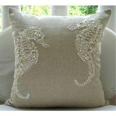 Sea Horse Pearl Pillow