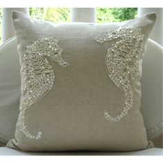 Sea Horse Pearl Pillow