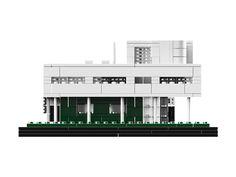 LEGO - Le Corbusier Villa Savoye, Poissy France   LEGO Architecture