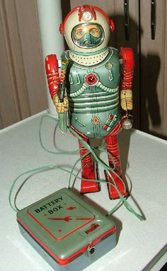 Vintage toy space man