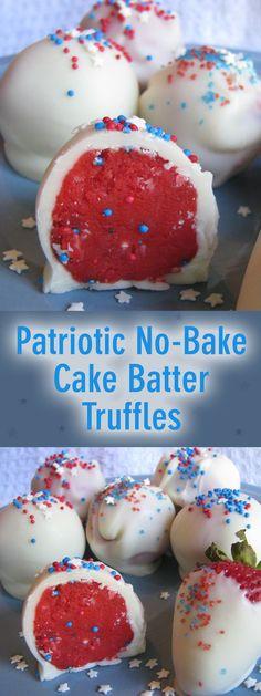 patriotic no-bake truffles