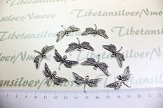 12 pcs a pkg  30x18mm Dragonfly Pendant by TibetanSilverNmore