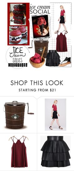 """""""Ice Cream Social"""" by pat912 ❤ liked on Polyvore featuring White Mountain, Balmain, Wet Seal and icecreamsocial"""
