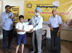 Certificates being distributed to the FREE Photography workshop participants at Nai Disha Free Education Society. www.iipedu.com/student-workshops.php