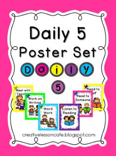 Daily 5 Posters and CAFE Set~ Freebie Friday