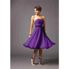 LOVE it!... Short Purple Bridesmaid Dresses WinnerPiece.Com found on Polyvore.