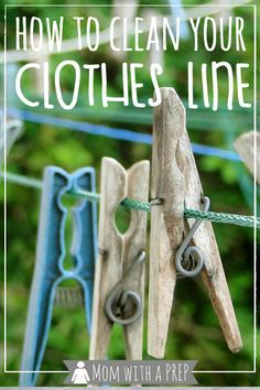 The weather is nice, it& time to start hanging out your clothes for the season to dry. But your clothesline is filthy! Here are some tips to get it cleaned up for your freshly washed clothes! Emergency Preparedness Home, Survival Prepping, Emergency Supplies, Survival Gear, House Cleaning Tips, Diy Cleaning Products, Cleaning Hacks, Diy Cleaners, Cleaners Homemade