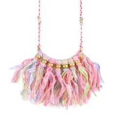 Festival Fiesta Fringe in Pastel Necklace #ettika #boho #jewelry #gypsy #hippie