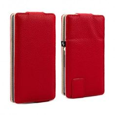 73d1842217c6b The universal Gecko Leather Smartphone Case in red by Proporta is an  innovative flip case that can protect and style numerous smartphone models.