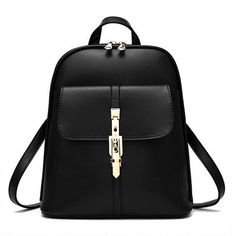 2016 Fashion Women Backpacks Women's PU Leather Backpacks Girl School Bag High Quality New Ladies Bags Designer Women Backpack #Affiliate