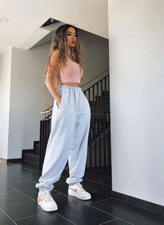 Cute Lazy Outfits, Basic Outfits, Teen Fashion Outfits, Retro Outfits, Girly Outfits, Look Fashion, Stylish Outfits, Cool Outfits, Simple Outfits