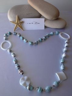 Collana con perle di carta   Necklace with pearl by Acasaconmanu