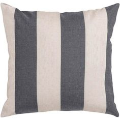 Surya // Gray and Ivory Striped Pillow; $35 - $60; purehome.com