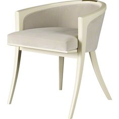 Thomas Pheasant conceived this chair as the ideal, high fashion complement to the Diana Dressing Table. The form is a barrel back of sorts, lightened and tightened to the limits of wood as a material, with an emphasis on a very low, very modern back. Hickory Furniture, Baker Furniture, Design Furniture, Large Furniture, Modern Furniture, Traditional Furniture, Classic Furniture, Console Design, Vanity Stool