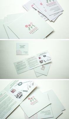 Informationsfolder für Rosenkult – handmade with love Corporate Design, Love, Handmade, Amor, El Amor, Craft, Brand Design, Arm Work, Brand Identity Design