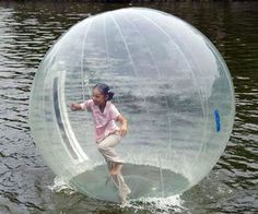 You may not be heavenly, but that shouldn't stop you from walking on water thanks to this inflatable human hamster ball. At approximately 7 feet tall, this inflatable walk on water ball will provide hours of fun on the water, and possibly induce claustrophobia.