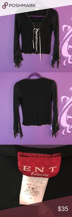 Black sheer top witch peasant Channel your inner witch with this top! Black sheer sleeves with pink accents. Size Medium but fits small. 🖤🕶💫 LINK IN BIO!!! #mesh #witch #usa #blouse #retro #thecraft #90s #00s #pink #black #forsale #ebay #depop #poshmark #ent #entrancy #womensfashion #womensclothing #shirt ent Tops Blouses
