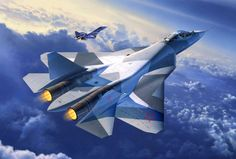 RUSSIAN FIGHTER SU-50 which among with USA F-22 and the French rafale deemed as the best of all fighters.