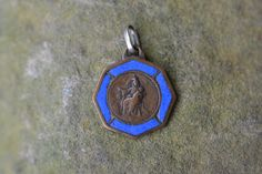 Vintage religious medal Catholic jewelry by ForTheLoveOfFrance, $45.00