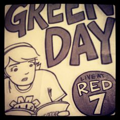 Day 29: a number | Green Day gig poster from Red 7. #photoadaymay    http://instagr.am/p/LOGJCFys4_/