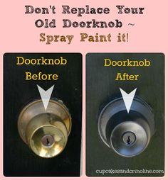 Easy Spray Paint Redos for Your Home | Cupcakes & Crinoline
