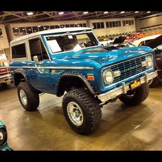 '68 Ford Bronco. Everything about this picture is perfect: the color, fender flairs. Tires... Gorgeous @Jenn L Noble