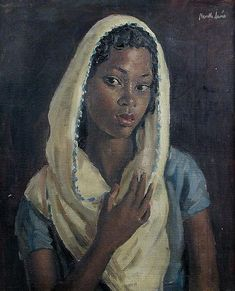 Nubian Girl - Alfred Neville Lewis - was a South African artist. He was born in Cape Town, South Africa, and educated there and, later, at the Slade School of Art in London. Black Girl Art, Black Women Art, South African Artists, Black Artwork, Afro Art, African American Art, Black Artists, Classical Art, London Art