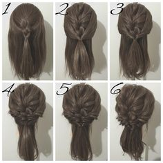 haar step by step haar step by step Braided Hairstyles Tutorials, Pretty Hairstyles, Cute Hairstyles, Wedding Hairstyles, Hair Tutorials, Half Updo, Hair Arrange, Love Hair, Hair Art