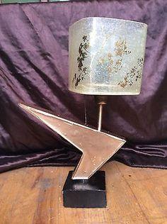 mid century modern atomic table lamp gold